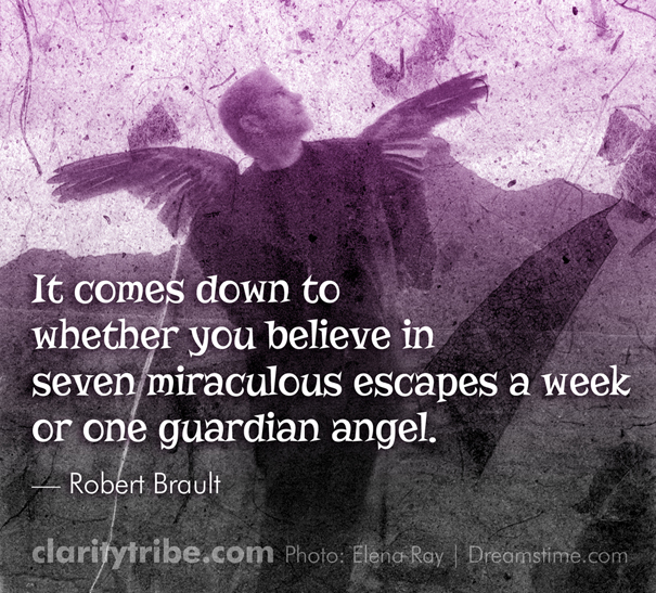 It comes down to whether you believe in seven miraculous escapes a week or one guardian angel.