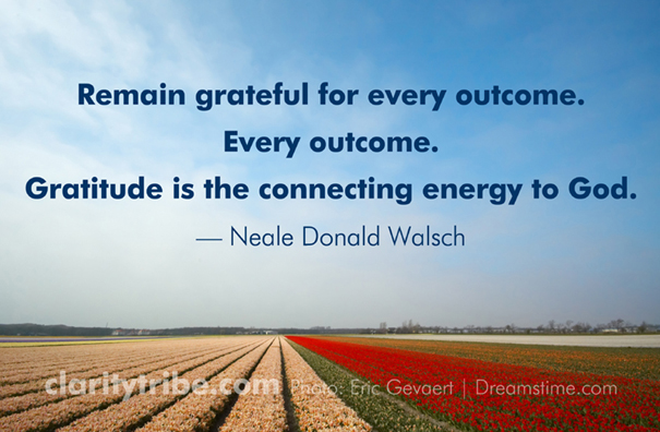 Remain grateful for every outcome. Every outcome.
